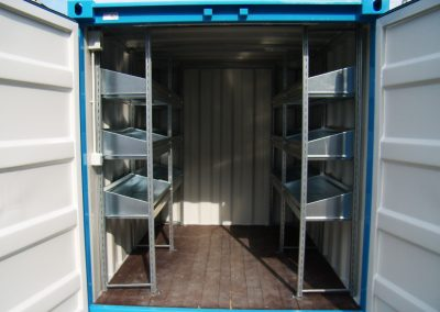 ISO BOX STOCK CONTAINER WITH SHELVES