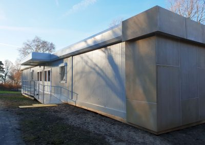 prefabricated school with design finishes
